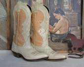 Woman's Cowboy Boots,  Size 6 Ladies / Teens All Leather Vintage Cowgirl Western Boots Cowgirl, Western Boots