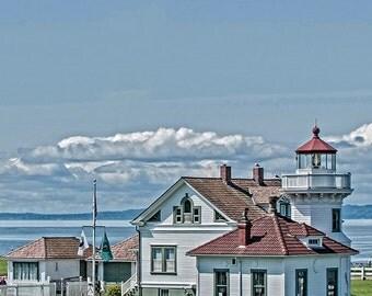 Lighthouse Photo, Washington State, Fine Art Image, Mukilteo Lighthouse Photo,