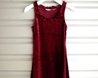 90s Vintage Cranberry Mini Dress