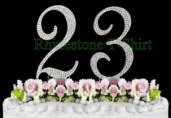 New large rhinestone number 23 cake topper 23th birthday like this item thecheapjerseys Gallery