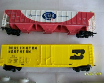 HO assorted rolling stock train cars[10]