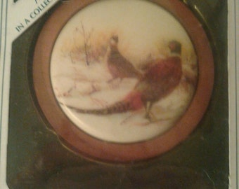 1984 Keepsake Ornament. Holiday Wildlife. Ring-necked Pheasant.