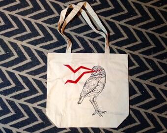 Lightening Burrowing Owl Tote Bag