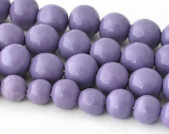Lavender Beads, Handmade Beads, Ceramic Beads, African Beads