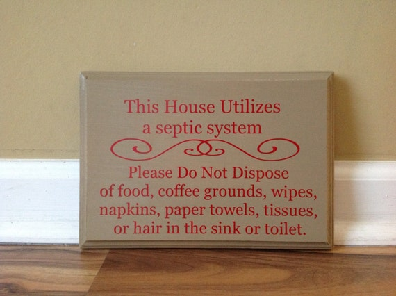 Bathroom Signs Do Not Flush septic system rules wooden sign plaque do not flush sign