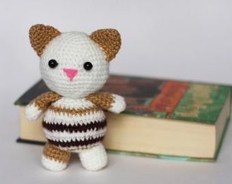 Crochet Amigurumi Cat Plush / Stuffed Animal Knit Toy