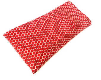 Burgundy Honeycombs Eye Pillow with Removable Case- With or Without Scent - Relaxing Eye Pillow Bees