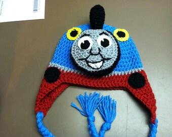 Thomas the Train Crochet Hat