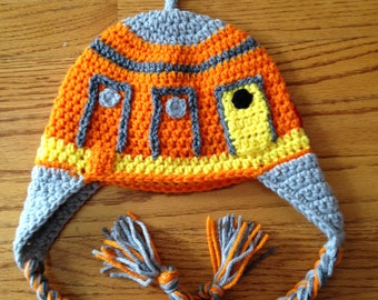 Star Wars Rebels Chopper Crochet Hat