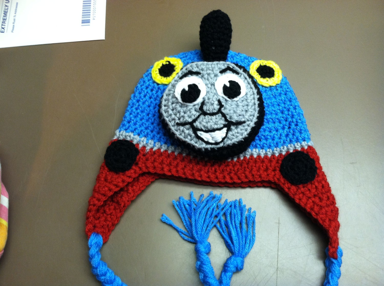 Free Crochet Hat Pattern For Thomas The Train : Thomas the Train Crochet Hat