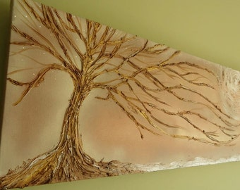 Beautiful textured tree painting on canvas by Sheila A. Smith