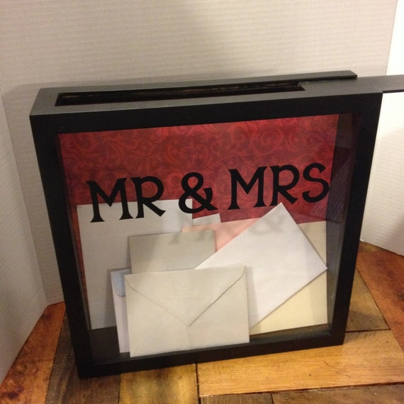 Wedding Gift Tool Box : WEDDING CARD Box 12x12 Shadow Box THEN use for an Admit One