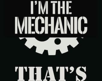 Mechanic Quotes Custom Mechanic Tool Art  Etsy
