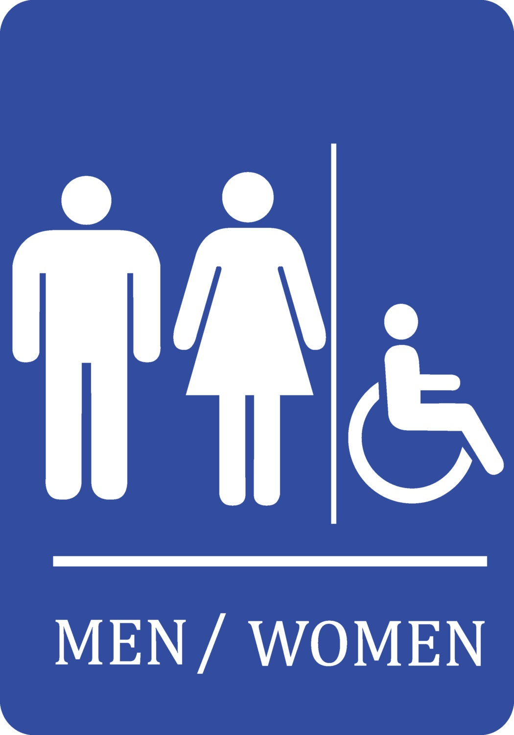 Bathroom Sign Handicap blue handicap men women bathroom sign quality plastic outdoor