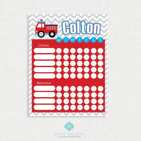 Printable Chore Chart- Chore Chart - Boy Chore Charts - Weekly Chore Chart - Children Chart - Routine charts-  Reward Chart - Routine Chart