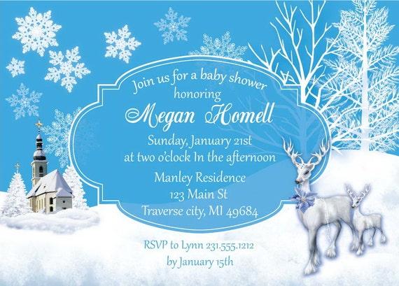 winter wonderland baby shower invitations unique baby shower