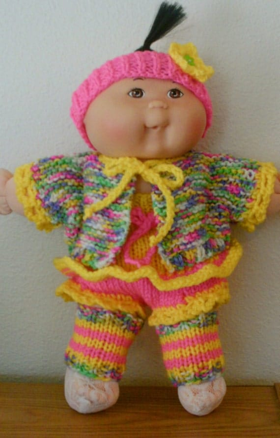 Knitting Pattern For Cabbage Patch Doll Clothes : NEW KNITTING Pattern Treasury of Easy-to-Knit Doll Clothes ...