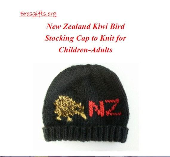 Knitting Pattern New Zealand : NEW KNITTING Pattern New Zealand Kiwi Bird Stocking Cap for