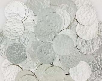 1/2 Inch 22 Gauge Sterling Silver Disc - HAMMERED