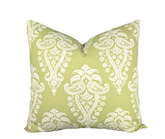 Sage Green Decorative Pillow : Sage Green and Tan Decorative Pillow Throw Pillow Cover
