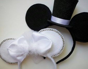 Custom BRIDE & GROOM Mouse Ears