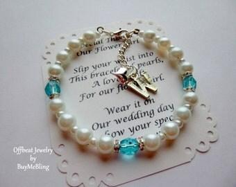 Personalized Birthstone Jewelry, Personalized Birthstone Bracelet, Children's Birthstone Jewelry, Girl's Birthstone Jewelry(B1)