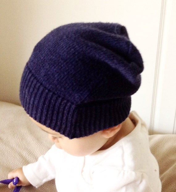 Baby slouch beanie shower t urban baby clothes navy