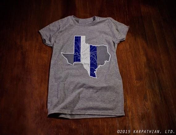 Dallas Texas map tee Ladies junior fit t-shirt