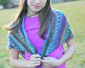 Lacy Knit Shawl ** Knitted Shawl ** Shawl ** Knit Shawl