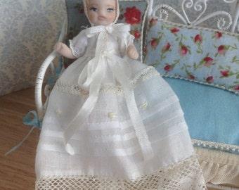1:12 scale miniature porcelain doll, children 1/12 scale dollhouse porcelain doll dolls for dollhouses