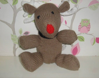 Rudolf knitted toy