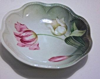 Vintage Reinhold Schlegelmilch Porcelain Bowl/ Blue RS Germany Mark