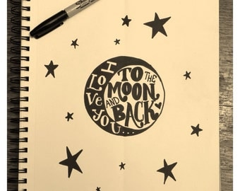 I Love you to the Moon and Back Quote