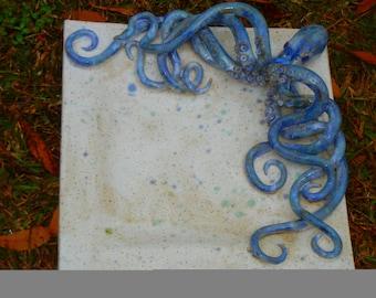 Octopus Plate Stoneware