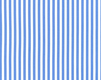 Michael Miller Clown Stripe in Blue - 1 yard increments