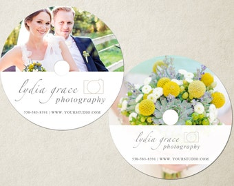 Wedding Photographer CD Template |  Customizable DVD Template