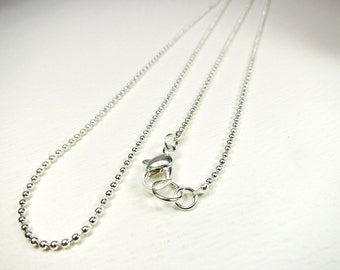 Extra Necklace Chain Silver Plated Ball Chain 24 Inch