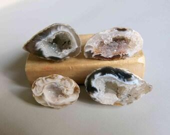 4pcs atural Druzy Agate Occo Oco Geode C3776