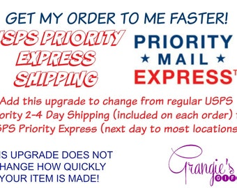 UPGRADE to USPS Priority Express Shipping
