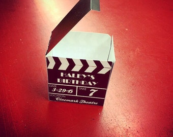 Personalized Clapboard Mini Party favor box