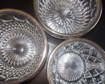 Fire king vintage small clear glass bowl with scrolling design for How to cut glass with fire
