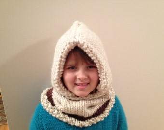 Chunky Knit Hooded Cowl (Adult)