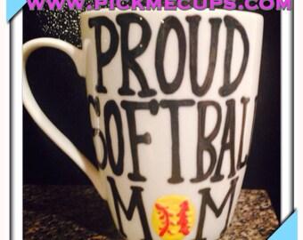 proud softball mom proud softball coach softball mug coffee mug strong and confident woman