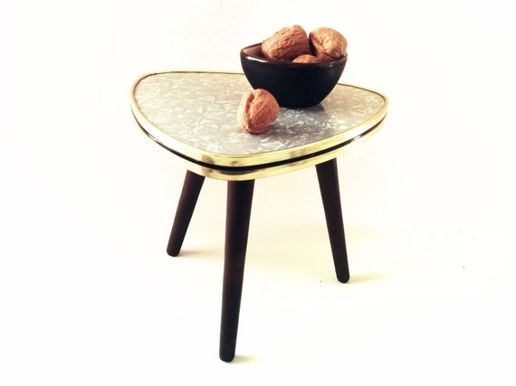 reserved vintage coffee table german plant stool from 1950s mid