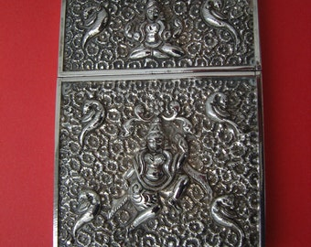 Kutch Anglo-Indian Victorian Silver Calling Card Case