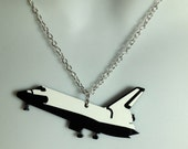 fabulous laser cut acrylic Nasa 'shuttle' necklace