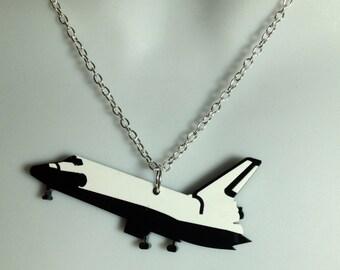 fabulous laser cut acrylic Nasa 'shuttle' necklace