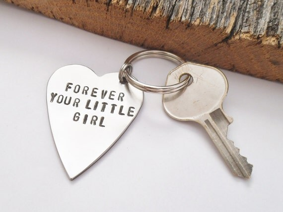 Father Gifts Wedding: Dad Keychain Wedding Day Keychain Forever Your Little Girl Key