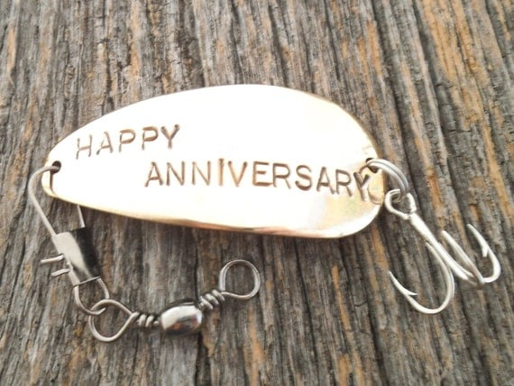 9th Wedding Anniversary Gifts For Husband: READY TO SHIP Happy Anniversary Fishing Lures For Husband 9th