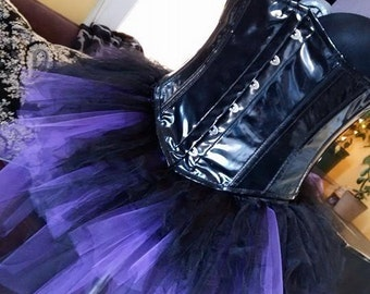 Gothic Purple and Black Bustle Tutu